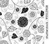 floral seamless pattern | Shutterstock .eps vector #95513908