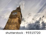 Big Ben Clock Tower Against...