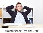 pensive happy business man in...   Shutterstock . vector #95521078