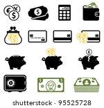 finance symbols set   Shutterstock .eps vector #95525728