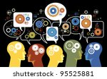silhouettes of people's heads... | Shutterstock .eps vector #95525881