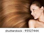 closeup portrait of a beautiful ... | Shutterstock . vector #95527444