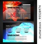 web design template | Shutterstock .eps vector #95528974