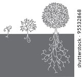 Concept Of Tree Growing Up