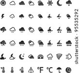 vector weather icon set  32x32... | Shutterstock .eps vector #95535292