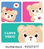 teddy bears greeting card...
