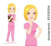 Beautiful Blond Nurse Smiling...