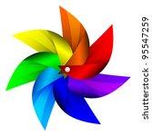 Vector illustration of Windmill toy