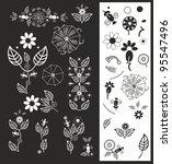 vectorf floral elements | Shutterstock .eps vector #95547496