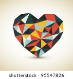 Vector Retro Heart Made From...