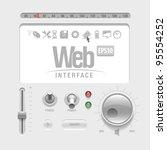 gray web ui elements design