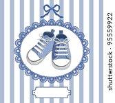 blue shoes or pair kids sneaker ... | Shutterstock .eps vector #95559922