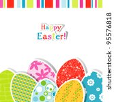 template easter greeting card ... | Shutterstock .eps vector #95576818