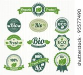 eco and bio labels collection | Shutterstock .eps vector #95577490