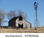 Weathered Old Farm Building Barn
