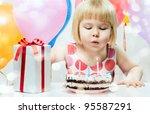 Little Girl Celebrates Birthday