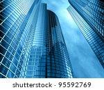 facade   shapes from a modern... | Shutterstock . vector #95592769