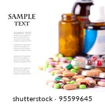 Heap Of Colorful Pills. Medica...