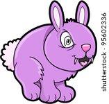 Crazy Evil Bunny Rabbit Vector Illustration Art Animal Pet - stock vector