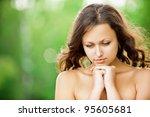 portrait of beautiful young... | Shutterstock . vector #95605681