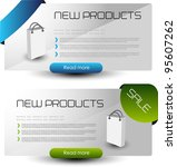 modern web banners for web sale ... | Shutterstock .eps vector #95607262