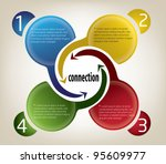 vector   set of colorful text... | Shutterstock .eps vector #95609977
