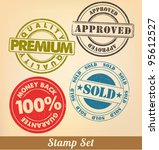 stamp set | Shutterstock .eps vector #95612527