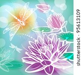 Background With Flowers Lotus...
