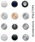 vector knobs icon set | Shutterstock .eps vector #95617594
