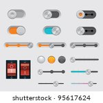 vector user interface dials set ... | Shutterstock .eps vector #95617624