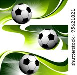 abstract football banners