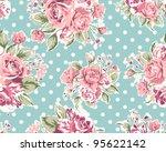 seamless pink vintage rose... | Shutterstock . vector #95622142