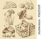 mushrooms set | Shutterstock .eps vector #95625109