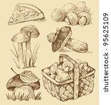 mushrooms set | Shutterstock .eps vector #95625109