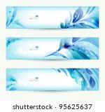 set of three banners  abstract  ... | Shutterstock .eps vector #95625637
