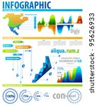 clean bright color info charts | Shutterstock .eps vector #95626933