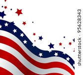 4th of july background   vector   Shutterstock .eps vector #95628343
