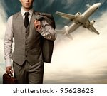 businessman traveling concept. | Shutterstock . vector #95628628