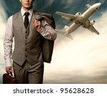 businessman traveling concept. | Shutterstock . vector #95628628