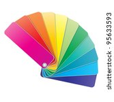 coloured swatches book. vector... | Shutterstock .eps vector #95633593