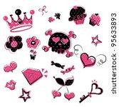 wild  girlish doodles   Shutterstock .eps vector #95633893