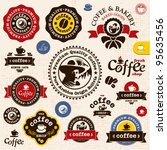 coffee badges and labels.... | Shutterstock .eps vector #95635456