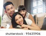asian family lifestyle | Shutterstock . vector #95635906