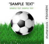 soccer ball on grass | Shutterstock .eps vector #95644894
