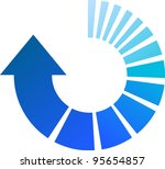 a colourful blue vector... | Shutterstock .eps vector #95654857