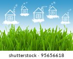 houses in the clear sky | Shutterstock . vector #95656618