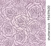 seamless pattern with roses.... | Shutterstock .eps vector #95659630