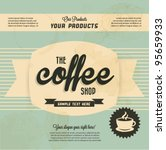 retro vintage coffee background ... | Shutterstock .eps vector #95659933