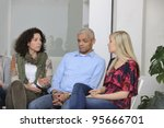 group therapy  diverse people... | Shutterstock . vector #95666701