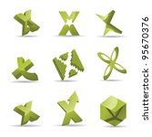 Abstract Letter X Alphabet...